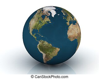 Planet Earth 3d render. Earth globe model, elements of this...