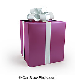Magenta gift box with bow