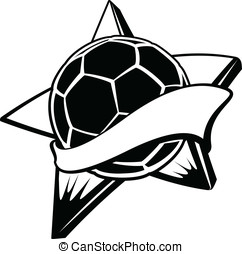 Soccer or Football Star Banner - Vector black and white...
