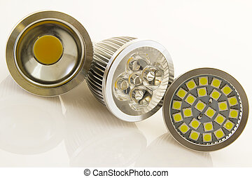 various LEDs bulb GU10 with cooling and different SMD chips