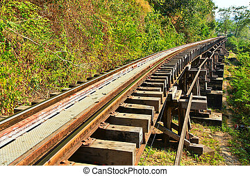 Death railway, built during World War II, Thailand