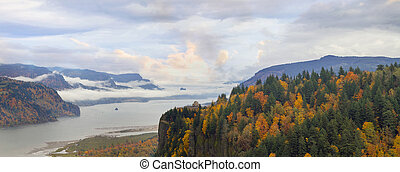 Crown Point Along Columbia River Gorge in Fall