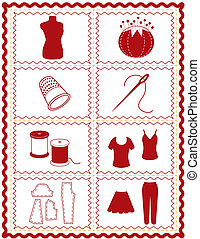Sewing and Tailoring Icons