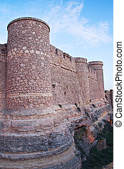 the fort - wall of the chinchilla castle, in albacete...