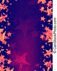 violet background with shining golden stars