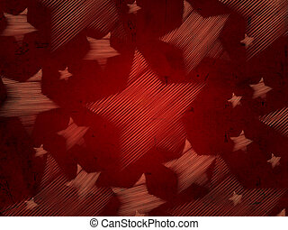 abstract red background with stars - abstract red background...