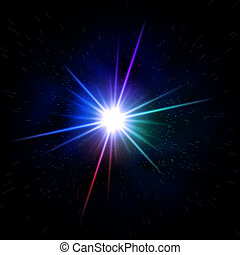 rainbow colored star - abstract rainbow colored rays light...
