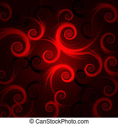 red and black spirals - abstract red and black spirals over...