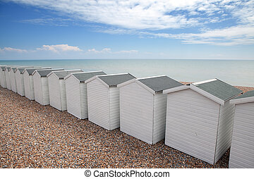 beach huts seaside chalet england - beach huts in seaside...