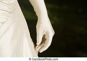 hand - glove for weddingday
