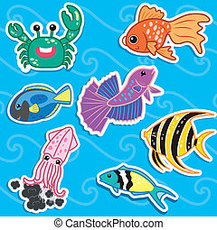 cute sea animal stickers4 - cute sea animal stickers