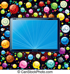 Tablet PC Icons Cloud