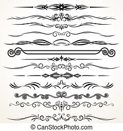 Vector Ornament Design - Vector Design Elements. Ornamental...