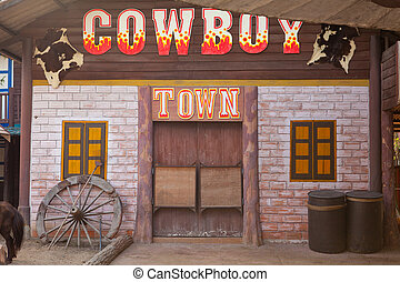 American western style town - An old American western style...