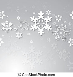 Christmas background with 3d snowflakes. Seamless vector...