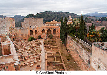 alcazaba - The alcazaba in Granada constitutes the oldest...
