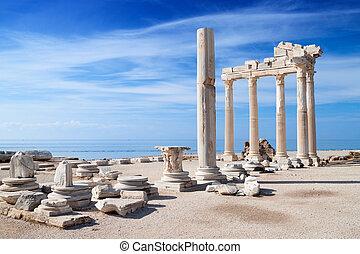 tempel, apollon, fördärvar