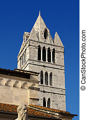 Bell Tower of Carrara Cathedral XII century - Italy - Detail...