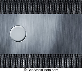 Metal Blank Button Background