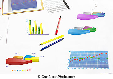 Financial statements - A variety of financial chart