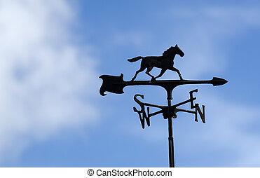 caballo, tiempo, veleta