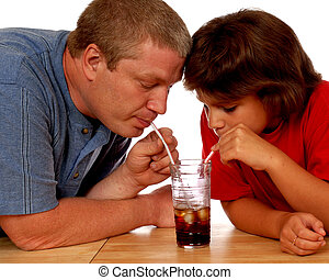 Father and Daughter Sharing - A father and daughter sharing...