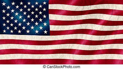 USA flag old crinkled effect illustration