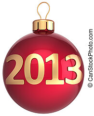 Christmas ball 2013 New Year bauble lucky calendar date...
