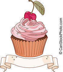 Beautiful cupcake - Beautiful cupcake with cherry on the top...