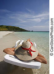 Woman on the beach - Nice vacation picture with woman...