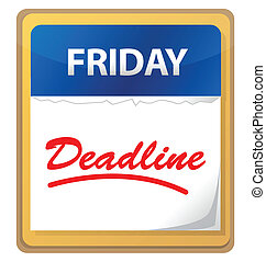 deadline calendar illustration