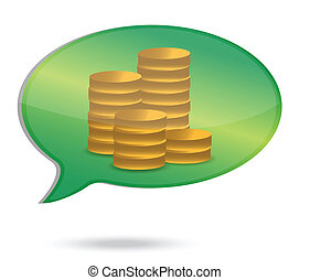 thinking in money coins illustratio