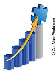 business puzzle graph
