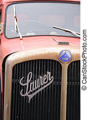 Old Truck - Front view of old Saurer truck