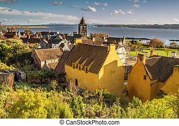 Beautiful Seaside View in Culross, Fife in Scotland