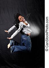 saut, Afro-américain, danseur