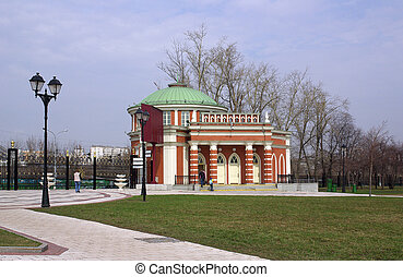 Tsaritsyno, Moscow. The visitor center (entrance hall)