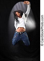 Afro-américain, danseur, saut