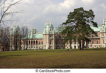 Tsaritsyno, Moscow - The Grand Palace in Tsaritsyno, Moscow,...