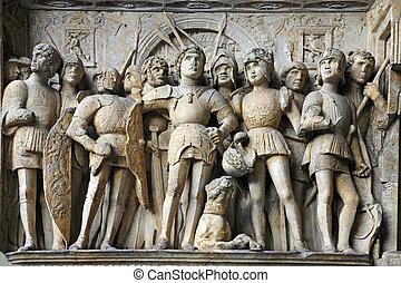 Castel Nuovo detail 3 - Maschio Angioino - Naples,Italy