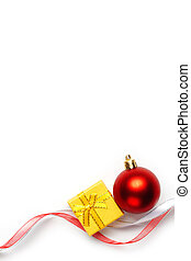 Christmas background - Festive background Christmas bauble...