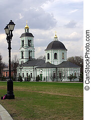 Tsaritsyno, Moscow - Temple of Our Lady of Life-Giving...