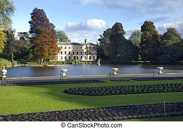 Kew Gardens - Museum number one on a crisp autumn day at the...