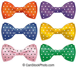 Fun bow ties - A set of polka dot bow ties.
