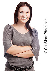 laughing young woman - beautiful laughing young woman,...