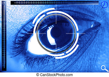 scan eye for security or identification
