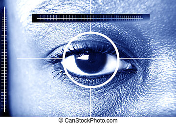 eye scan for security or identification