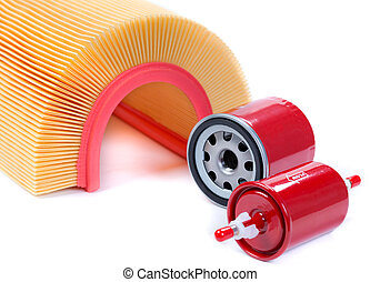 set of filters for car