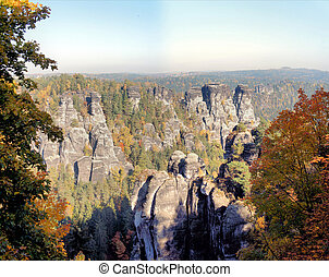 The Saxon Switzerland, Germany - Bizarre rocks world in the...