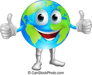 Globe mascot character - A world or globe mascot character...